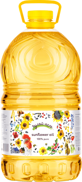 Sunflower oil refined deodorized  Гуляй-поле 5L 4600 g