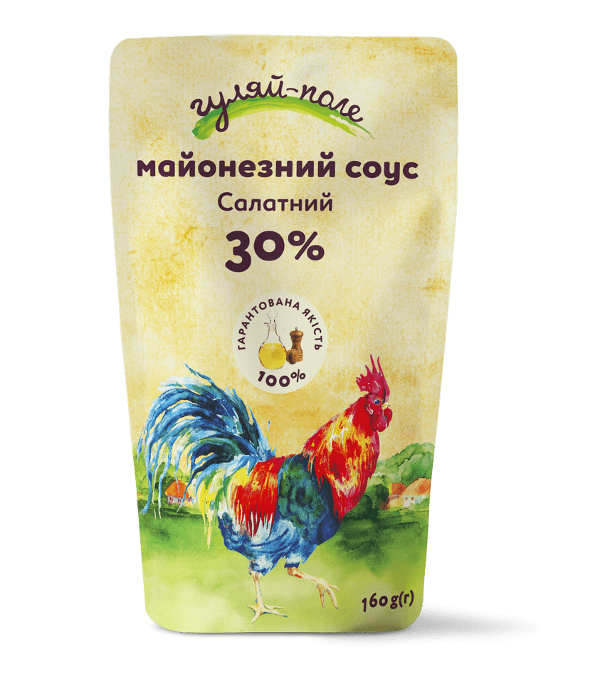 Mayonnaise sauce For a salad Гуляй-поле Doy-pack 160 g