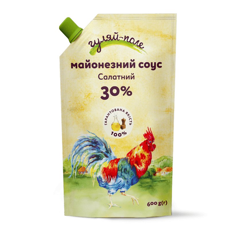 Mayonnaise sauce For a salad Гуляй-поле Doy-pack 600 g