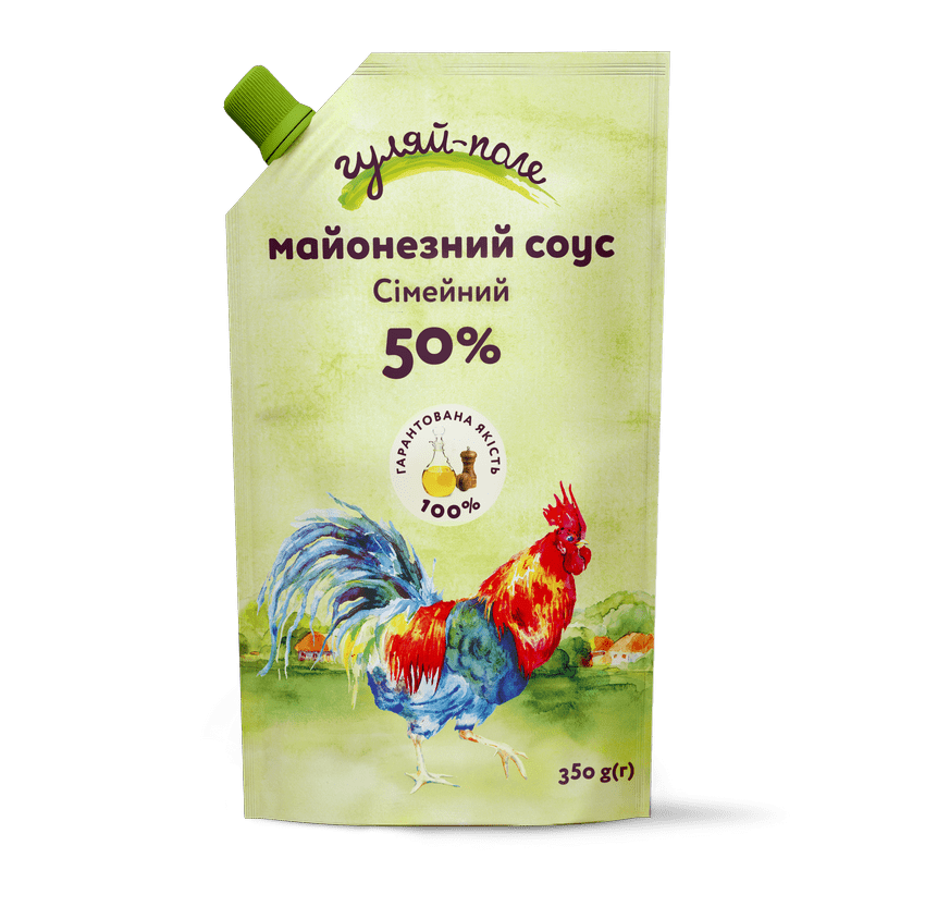 Mayonnaise sauce For family Гуляй-поле Doy-pack 350 g