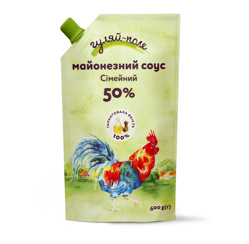Mayonnaise sauce For family Гуляй-поле Doy-pack 600 g