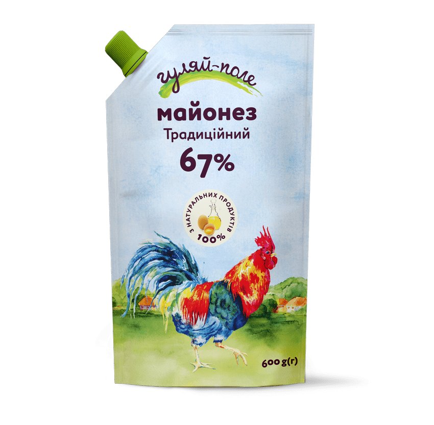 Mayonnaise Traditional Гуляй-поле Doy-pack 600 g