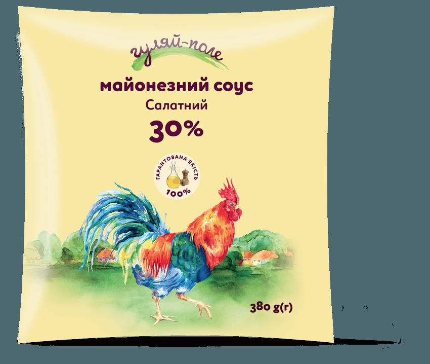 Майонезний соус Салатний Гуляй-поле Ф/пак 380 г