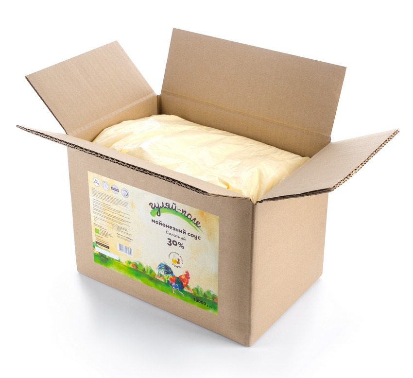 Mayonnaise sauce For a salad Гуляй-поле Box 10 kg