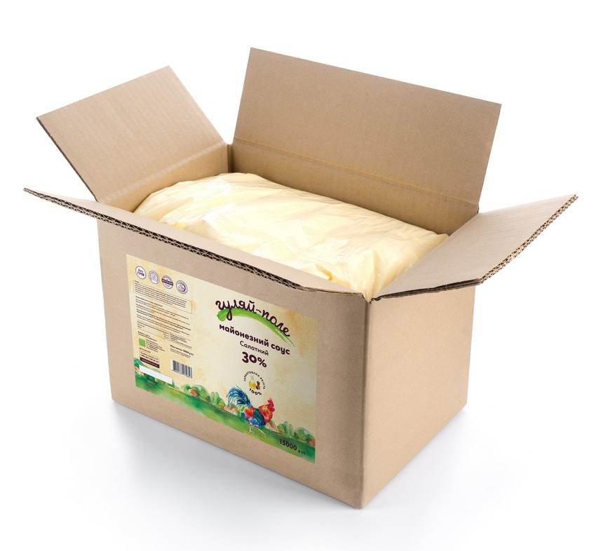 Mayonnaise sauce For a salad Гуляй-поле Box 15 kg