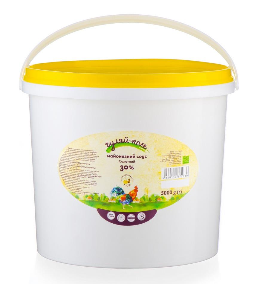 Майонезний соус Салатний Гуляй-поле Відро 5 кг