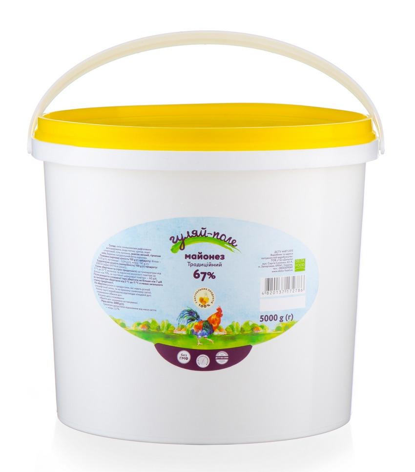 Mayonnaise Traditional Гуляй-поле Bucket 5 kg
