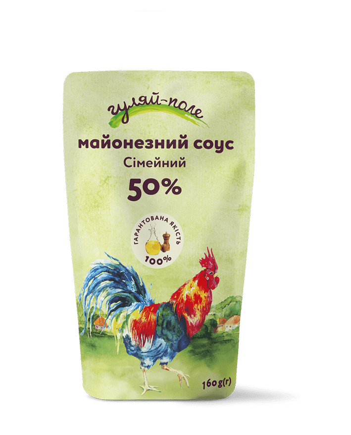 Mayonnaise sauce For family Гуляй-поле Doy-pack 160 g