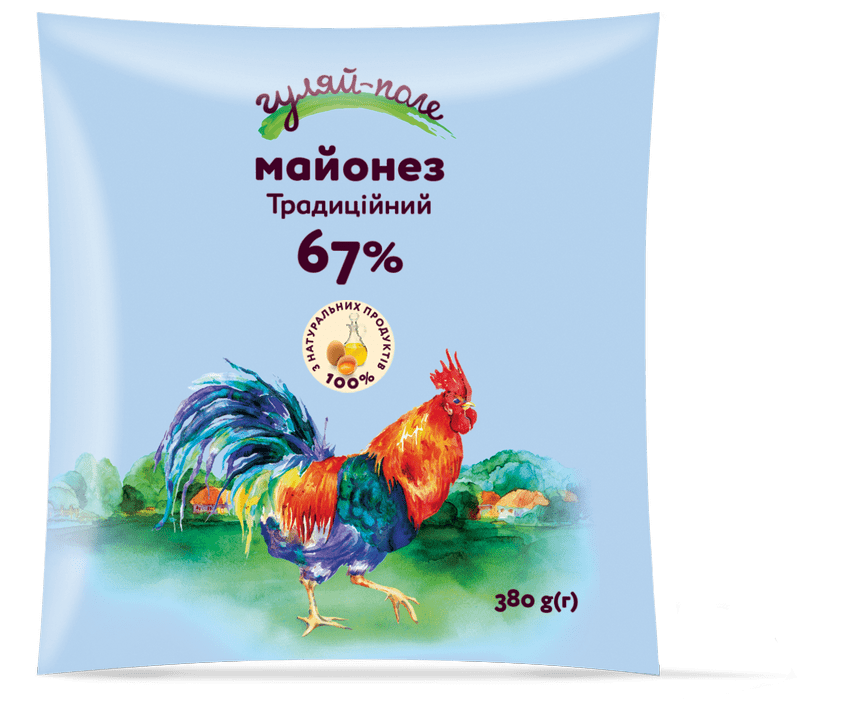 Майонез Традиційний Гуляй-поле Ф/пак 380 г