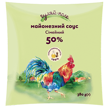 Mayonnaise sauce For family Гуляй-поле Fil-pack 380 g