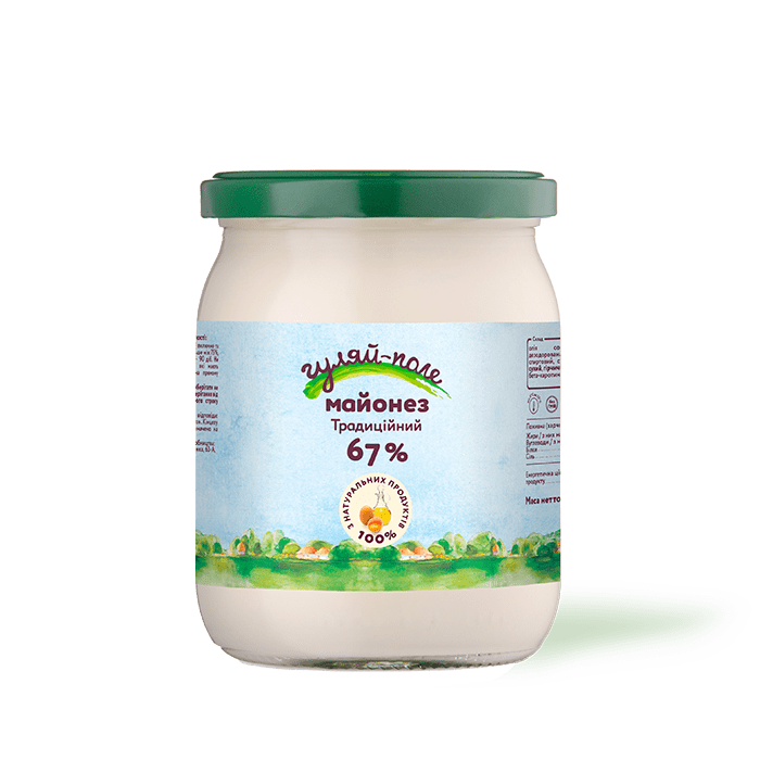 Mayonnaise Traditional Гуляй-поле Glass jar 420 g