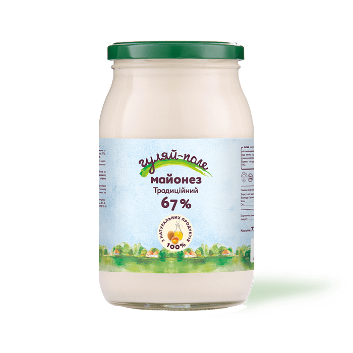 Mayonnaise Traditional Гуляй-поле Glass jar 770 g