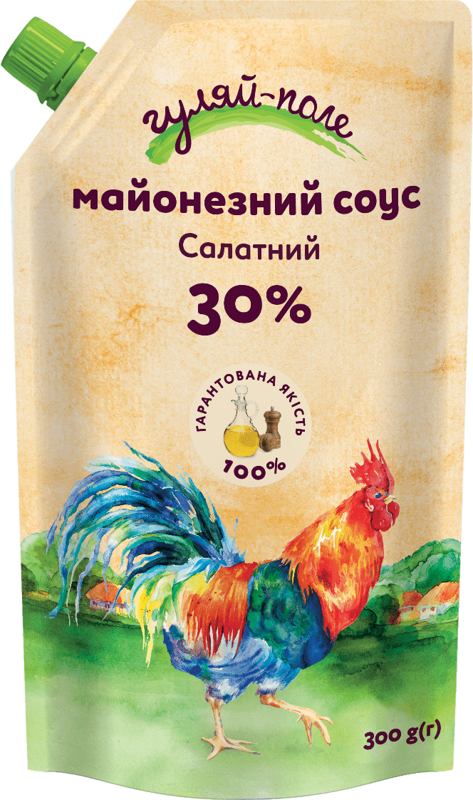 Mayonnaise sauce For a salad Гуляй-поле Doy-pack 300 g