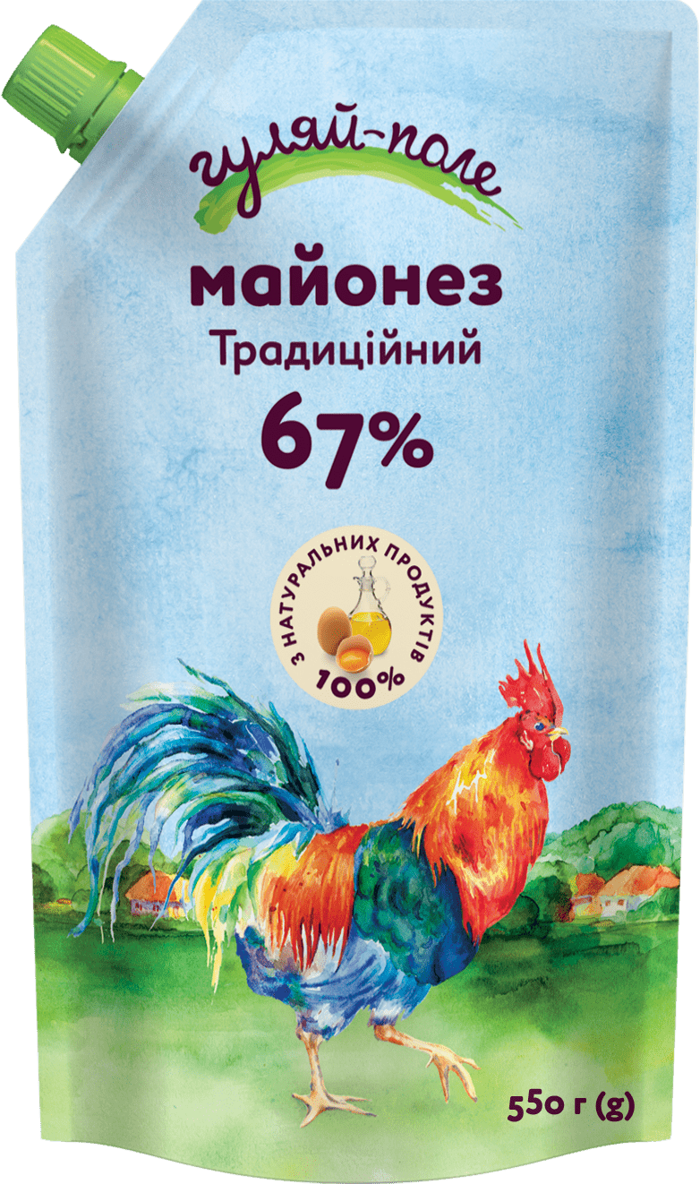 Mayonnaise Traditional Гуляй-поле Doy-pack 550 g