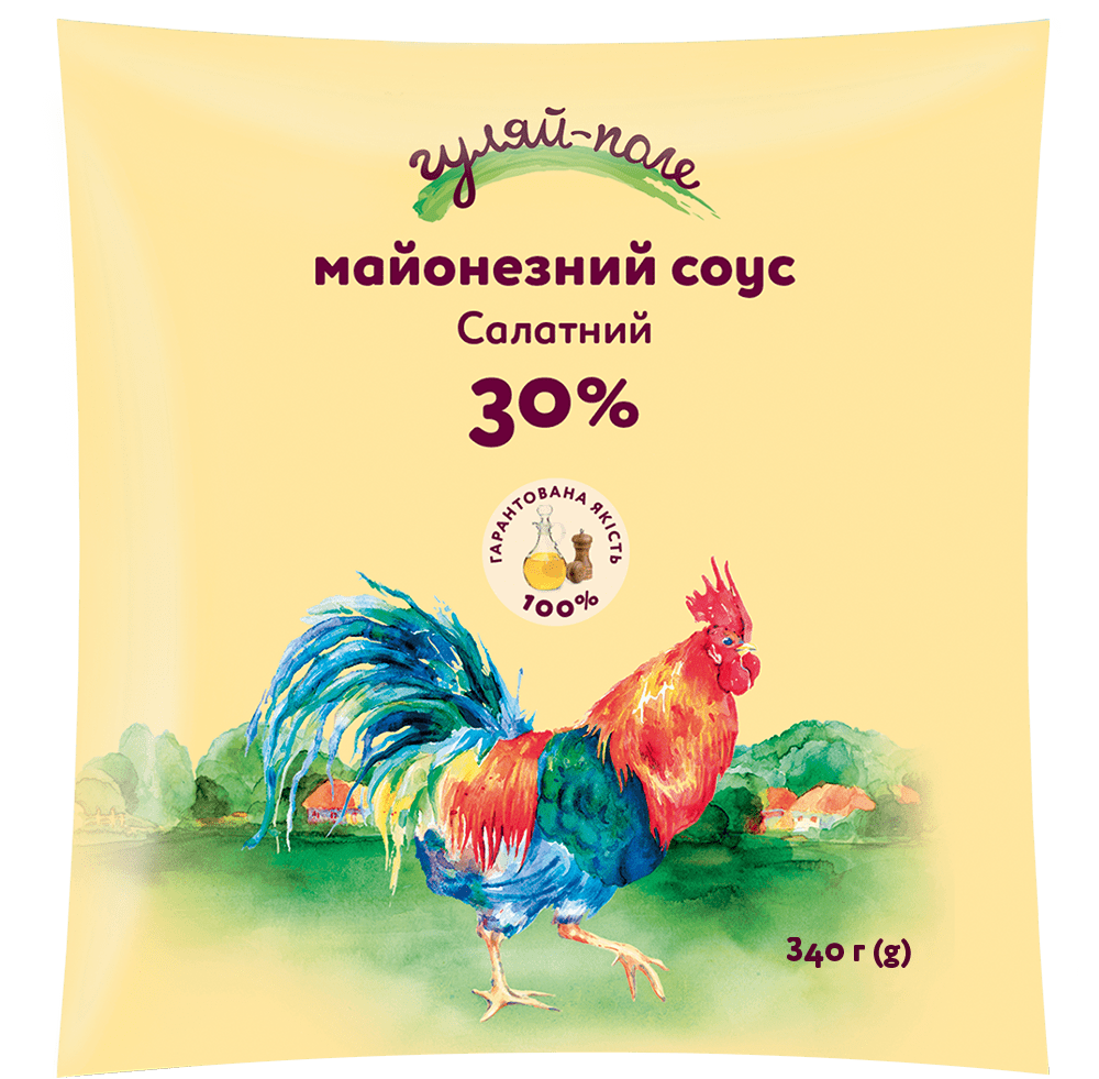 Mayonnaise sauce For a salad Гуляй-поле Fil-pack 340 g
